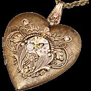 Heart Locket Necklace Steampunk Heart Locket Necklace Steampunk Heart