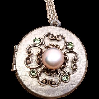 Photo Locket Necklace Four Leaf Clover Necklace