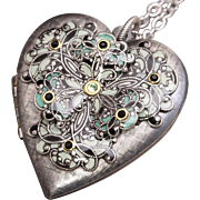 Heart Locket Necklace Silver Locket Necklace Picture Locket Photo Locket