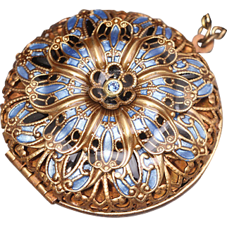 Flower Locket Flower Necklace Compass Necklace Picture Locket Necklace