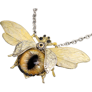 Bee Necklace Insect Jewelry Bug Necklace Save The Bees