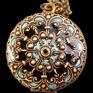Locket Necklace Compass Necklace Photo Locket Working Compass Locket