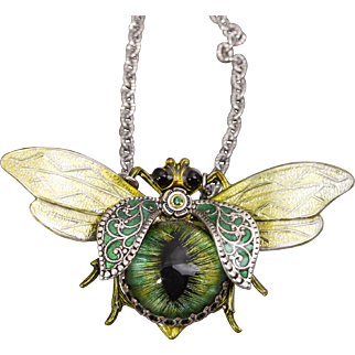 Bee Necklace Bee Jewelry Insect Jewelry Art Nouveau Style Save The Bees