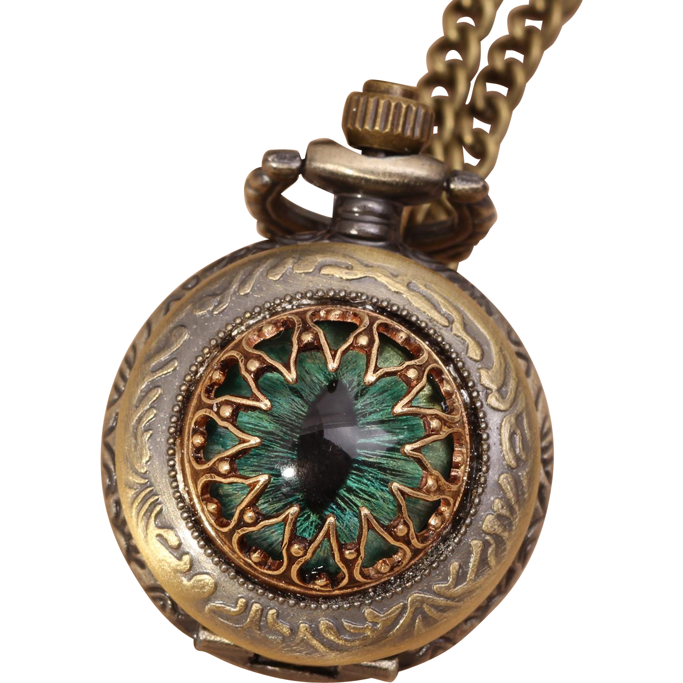 Dragon Eye Necklace Pocket Watch Necklace Eye Necklace Evil Eye Necklace Pocket Watch Working