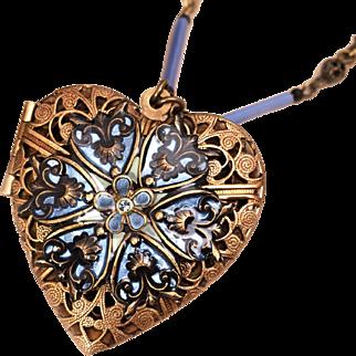 Heart Locket Necklace Heart Necklace Compass Locket Necklace Blue Heart Necklace Locket Necklace Photo Locket