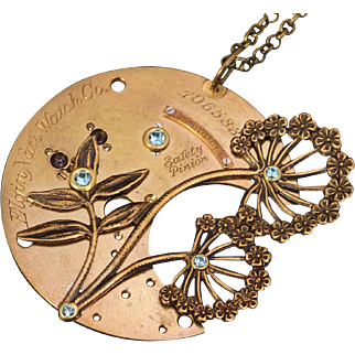 Steampunk Necklace Steampunk Jewelry Dandelion Necklace Flower Necklace