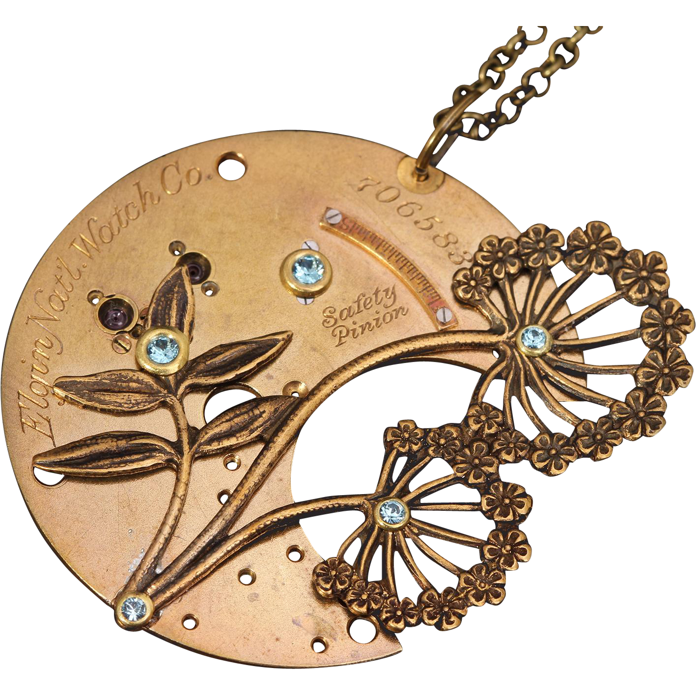 Steampunk Necklace Steampunk Jewelry Dandelion Necklace Flower Necklace