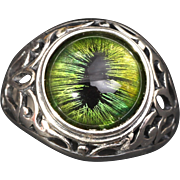 Unisex Ring Dragon Eye Ring Evil Ring Sterling Silver Ring Mens Sterling Silver Ring Silver Mens Ring