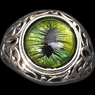 Unisex Ring Dragon Eye Ring Evil Ring Sterling Silver Ring Mens Sterling Silver Ring Silver Mens Ring