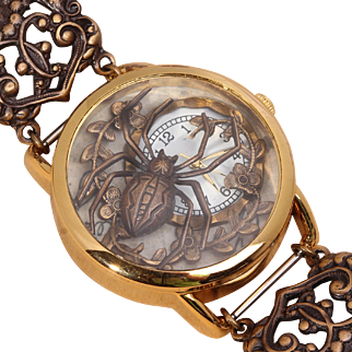 Steampunk Watch Women Wrist Watch Spider Jewelry Unique Wrist Watch Womens