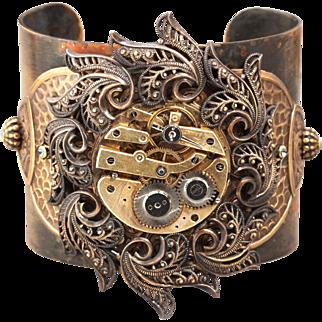 Steampunk Cuff Bracelet Bracelet Cuff Steampunk Cuff Bracelet Steampunk Jewelry