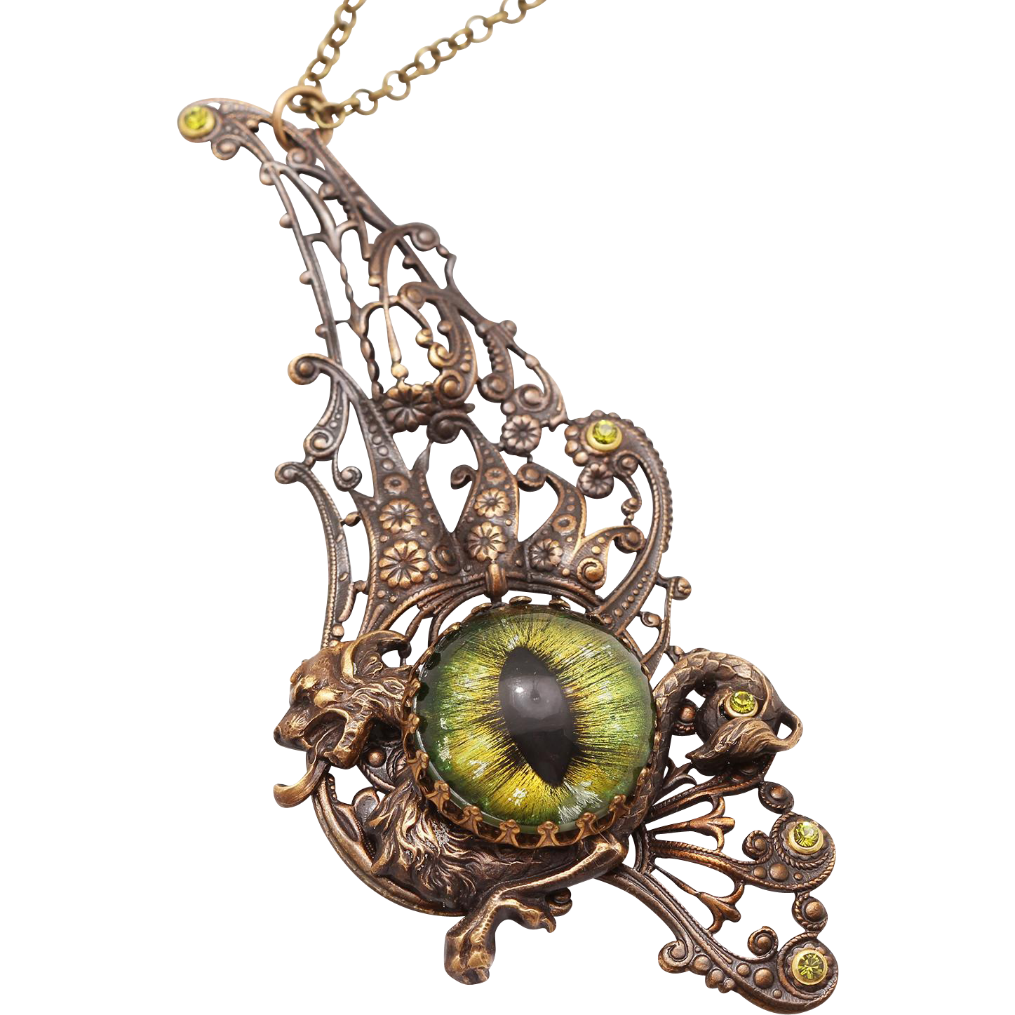 Dragon Necklace Dragon Eye Necklace Dragon Pendant Necklace Dragon Wings