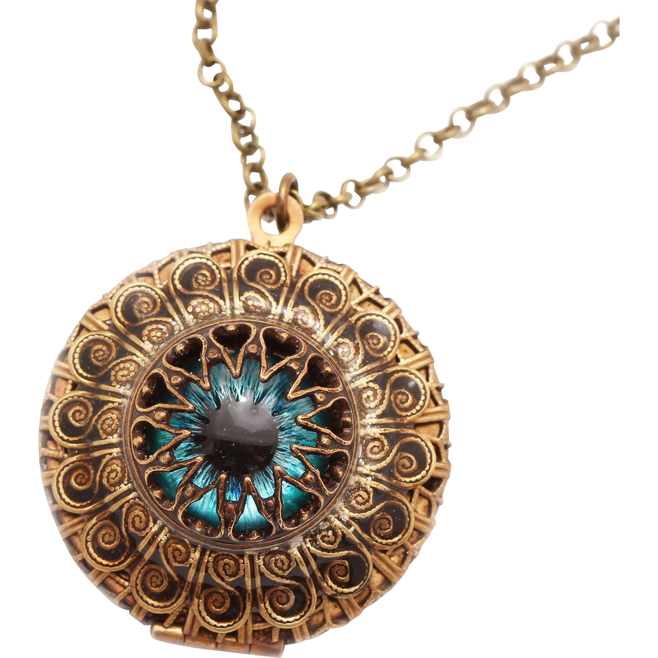 Compass Locket Necklace Evil Eye Locket Compass Necklace Evil Eye Necklace Locket Necklace