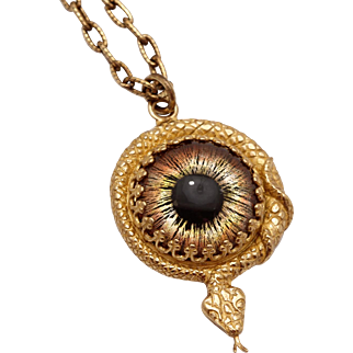 Snake Necklace Serpent Necklace Snake Jewelry Snake Eye Necklace