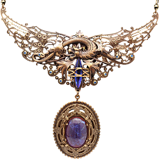 Dragon Wings Dragon Necklace Dragon Pendant Dragon Jewelry