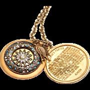 Slide Locket Pendant Necklace The Lords Prayer Locket Necklace
