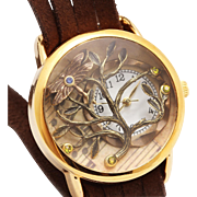Tree Of Life Watch, Wrist Watch, Ladies Watch, Leather Wrap Watch