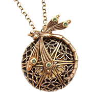Dragonfly Necklace Dragonfly Locket Necklace Working Compass Necklace Locket Necklace