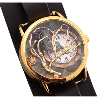 Owl Watch, Unique Watch, Ladies Wrist Watch, Womens Watch, Leather Watches For Women