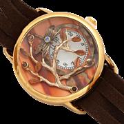 Unique Watch, Ladies Wrist Watch, Leather Wrap Watch, Womens Watch