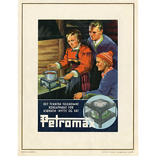 1930s Norwegian Cabin Stove Lithograph