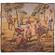 European Tapestry of Bedouin Merchant Scene *SALE**