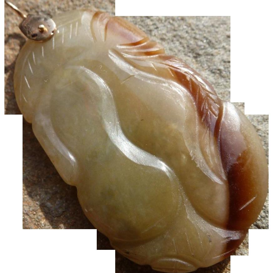65% OFF 14k Jadeite Jade Lucky calabash Pendant