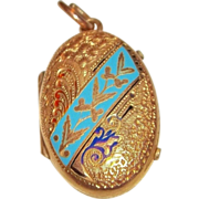 55% OFF Victorian Gold-Filled enameled Locket