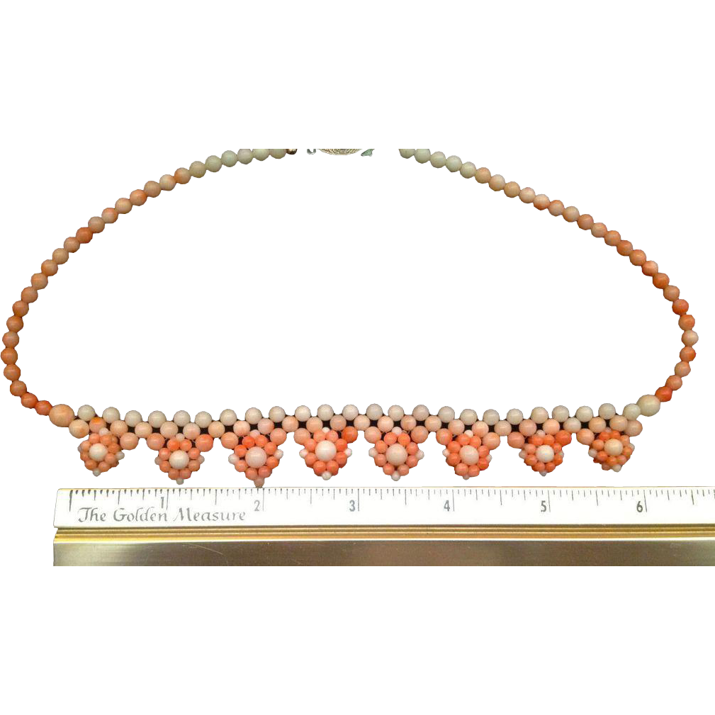 65% OFF Angel Skin CORAL Woven Bead Necklace