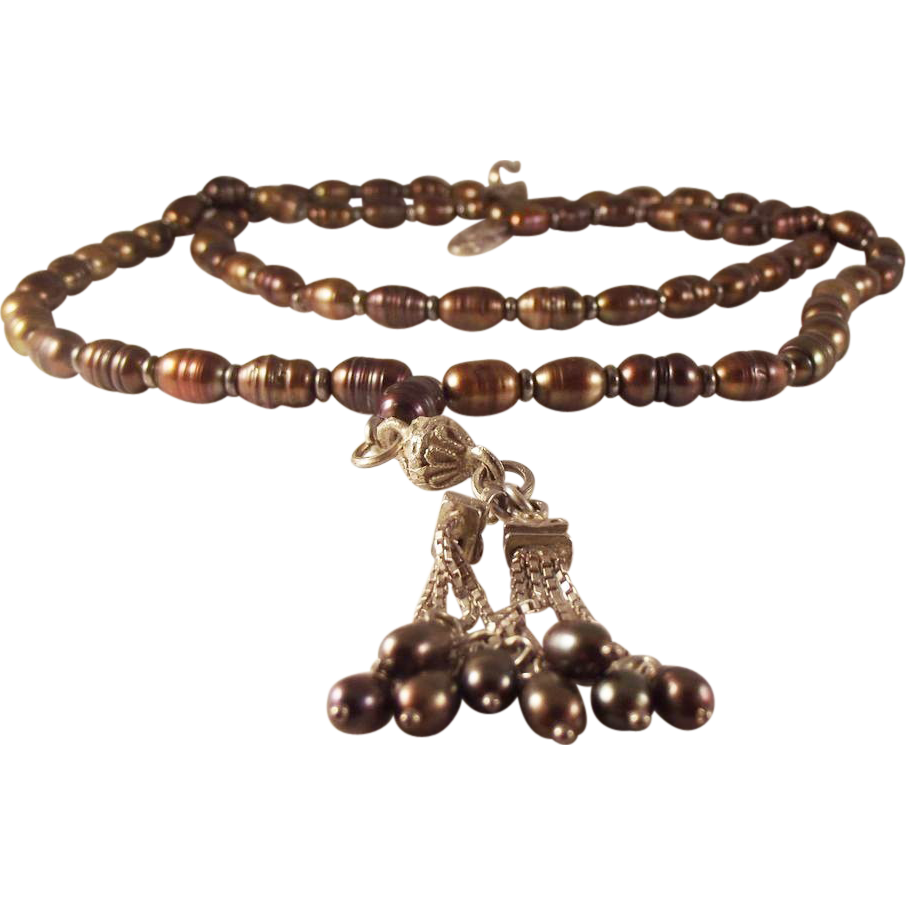 55% OFF Baroque Pearl Tassel Necklace