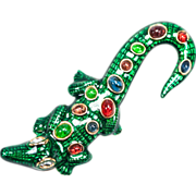 50% OFF Kenneth Jay Lane Enameled Alligator Brooch