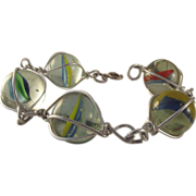 50% OFF Vintage Glass Marbles Bracelet Wrapped In Silver-Toned Wire