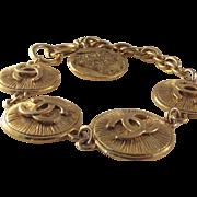Chanel CC Cambon Round Logo Charm Bracelet