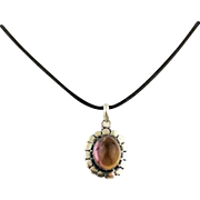 60% OFF Natural Amethyst Crystal Sterling Silver Pendant