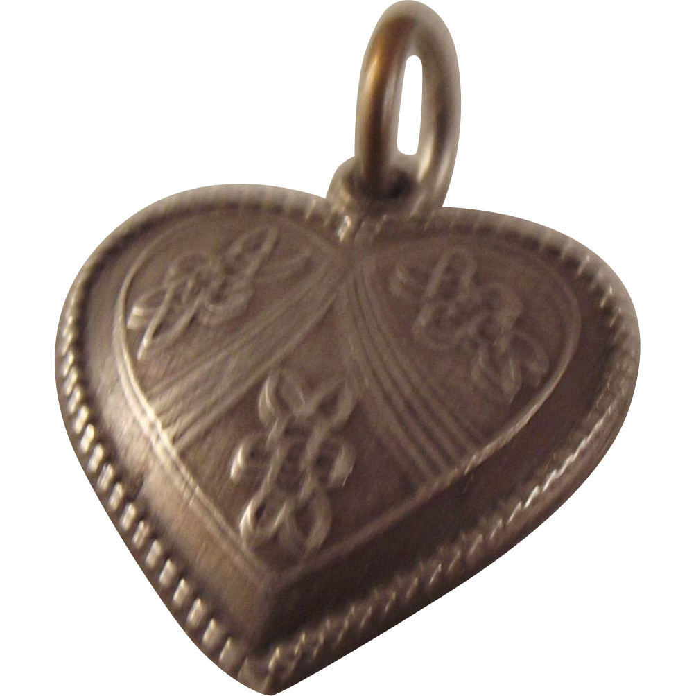 50% OFF Sterling 40s  puffy heart charm