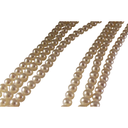 45% OFF 14k Triple Strand of Salt Water Cultured Pearls