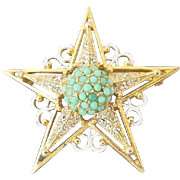 "1/2 OFF ""HATTIE CARNEGIE"" five-pointed star brooch"
