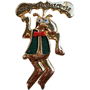 Vintage Danecraft Merry Christmoose Brooch