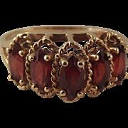 STORE WIDE Vintage 10k Garnet Cocktail Ring Size 8