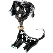 60% OFF Original By Robert Dog Brooch Black White Spots