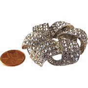 60% OFF Large Monet Rhinestone Brooch