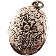40% OFF WE Hayward Sterling Silver Vintage Floral Locket