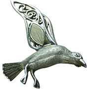 45 % OFF Wells Sterling  Sea Gull Bird Pin Brooch 2""
