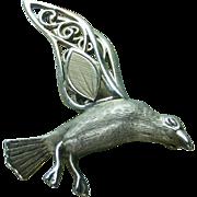 "45 % OFF Wells Sterling  Sea Gull Bird Pin Brooch 2"""
