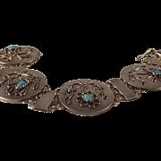 45% OFF Vintage Austrian Silver Turquoise Bracelet