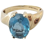 STORE WIDE 9K London Blue Topaz Ring