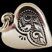 40% OFF Unusual Deco silver Fob Locket charm
