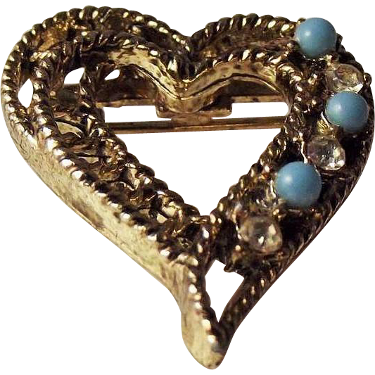 50% OFF Vintage Gerrys signed heart brooch