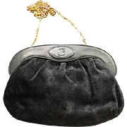 CLEARANCE ITALY Nazareno Gabrielli Black Suede and  Leather Purse