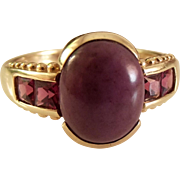 50% OFF  Fine Amethyst 9k gold ring